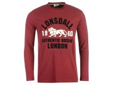 Реглан LONSDALE Long Sleeve T-Shirt Mens